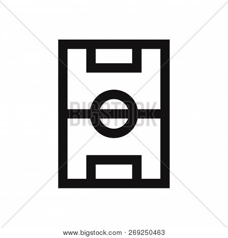 Football Field Icon Isolated On White Background. Football Field Icon In Trendy Design Style. Footba