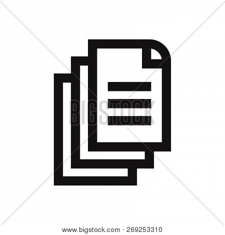 Documents Icon Isolated On White Background. Documents Icon In Trendy Design Style. Documents Vector