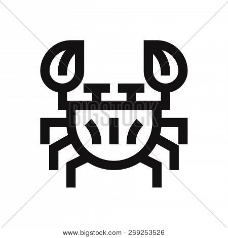 Crustacean Icon Isolated On White Background. Crustacean Icon In Trendy Design Style. Crustacean Vec