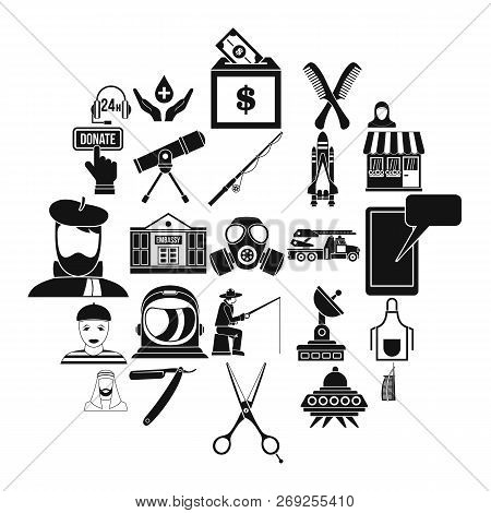 Human Resources Department Icons Set. Simple Set Of 25 Human Resources Department Icons For Web Isol