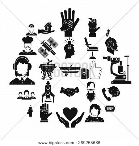 Human Resources Icons Set. Simple Set Of 25 Human Resources Icons For Web Isolated On White Backgrou