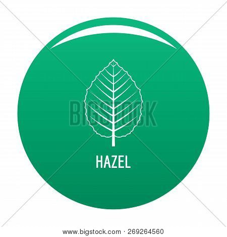 Hazel Leaf Icon. Simple Illustration Of Hazel Leaf Vector Icon For Any Design Green