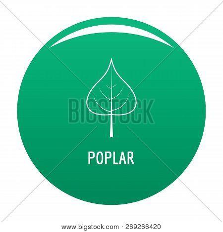 Poplar Leaf Icon. Simple Illustration Of Poplar Leaf Vector Icon For Any Design Green