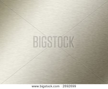 Shiny Brushed Steel. Texture Or Background.