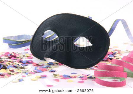 Closeup Black Mask