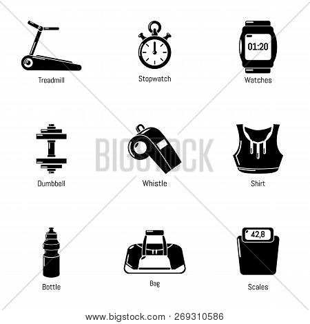 Workout Room Icons Set. Simple Set Of 9 Workout Room Vector Icons For Web Isolated On White Backgrou