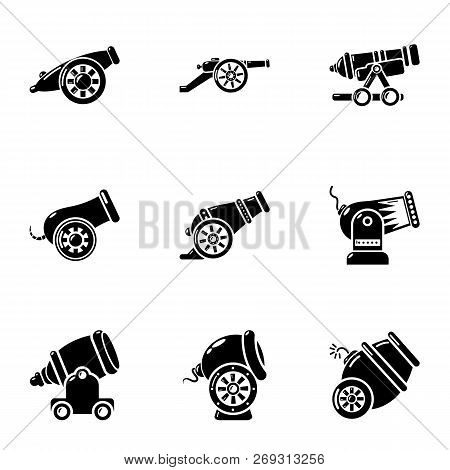 Artillery Unit Icons Set. Simple Set Of 9 Artillery Unit Vector Icons For Web Isolated On White Back