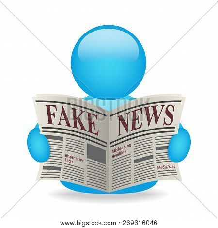 Fake News Newspaper Avatar Misleading Headline Alternative Facts Media Bias