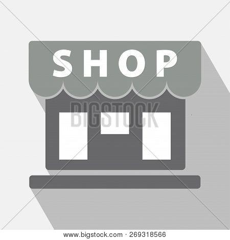 Shop Icon Vector. Shop Store Icon, Shop Building Icon Illustration Vector Sign Symbol. Shop Icon Wit