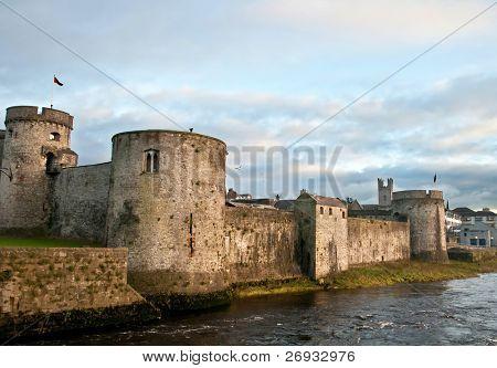 King John castle in Limerick poster