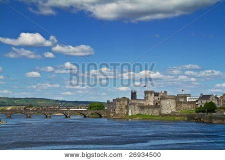 King John Castle scenery in Limerick  - Ireland poster