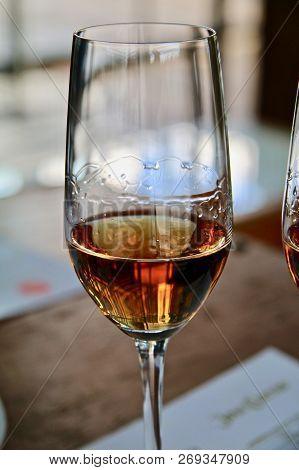 A Glass Of Premium Añejo Aged Tequila