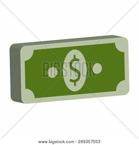 Money Dollars. Vector Illustration Of Dollars Banknotes, Bundle Of Money. Stack Of Dollar Bills Icon
