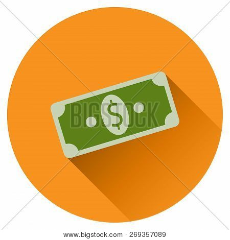 Money Dollars Icon. Vector Illustration Of Dollars Banknotes. Stack Of Dollar Bills.