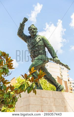 Tirana, Albania: 01 July 2014: Statue Of An Unknown Soldier In Tirana. Monument Dedicated To The Ser