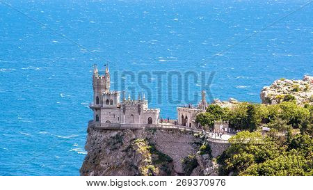Castle Swallow's Nest On A Rock At Black Sea, Crimea, Russia