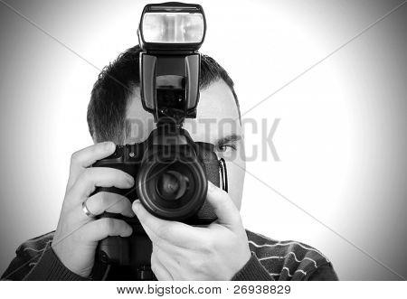 Autorretrato del fotógrafo con la cámara
