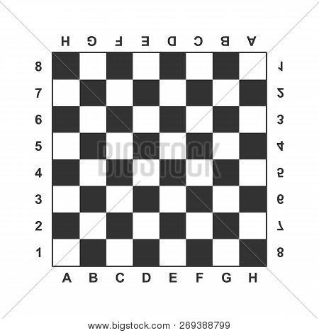 Board, Chess, Chess Board, Game Icon. Vector Illustration, Flat Design.