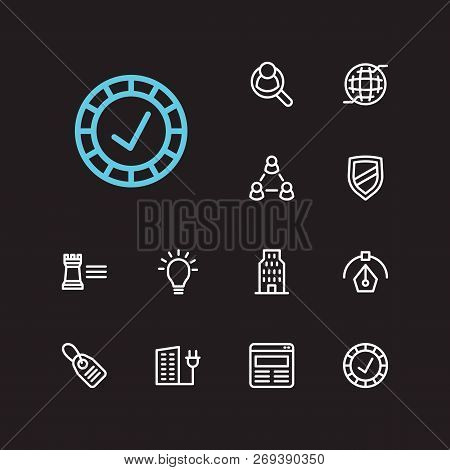 Commerce Icons Set. Reliable Value And Commerce Icons With Human Resource, Integrity Value And Price