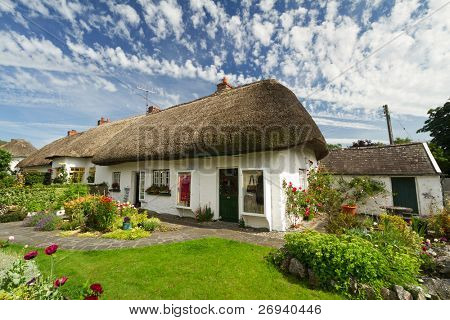 Irish traditional cottage house of Adare poster