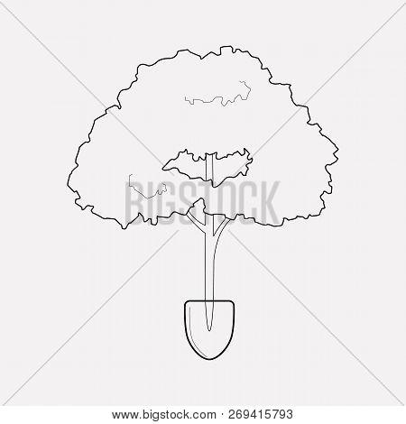 Afforestation Icon Line Element.  Illustration Of Afforestation Icon Line Isolated On Clean Backgrou