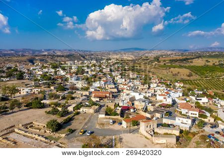 Elevated View Of Kouklia Village. Paphos District, Cyprus
