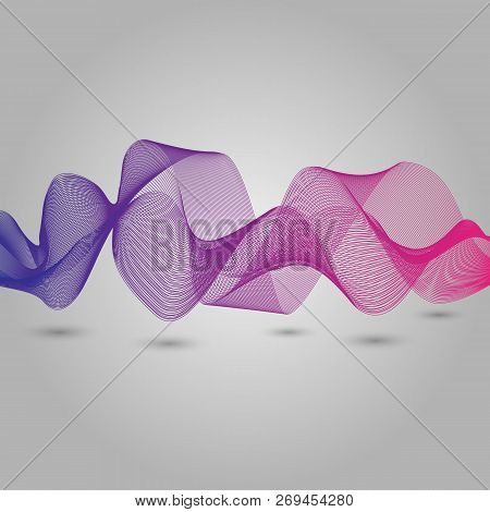 Abstract Violet And Pink Wave Background, Stock Vector