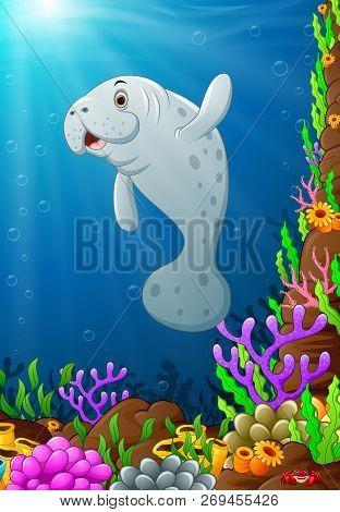 Vector Illustration Cartoon Of Under The Sea