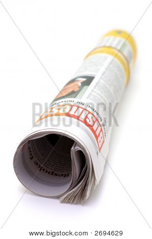 Roll Of Newspaper - Business Section