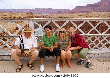 Tourists on Navajo Bridge