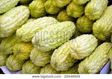 Chinese street market  - bitter gourds