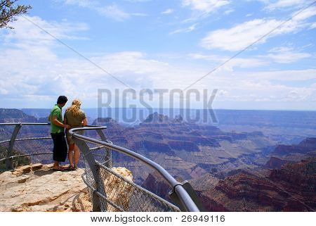 Tourists in Grand Canyon National Park - North Rim