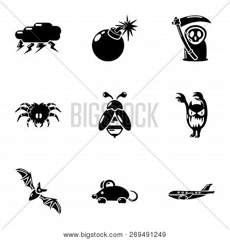 Lethally Icons Set. Simple Set Of 9 Lethally Vector Icons For Web Isolated On White Background