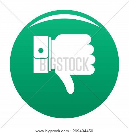 Hand Sediment Icon. Simple Illustration Of Hand Sediment Vector Icon For Any Design Green