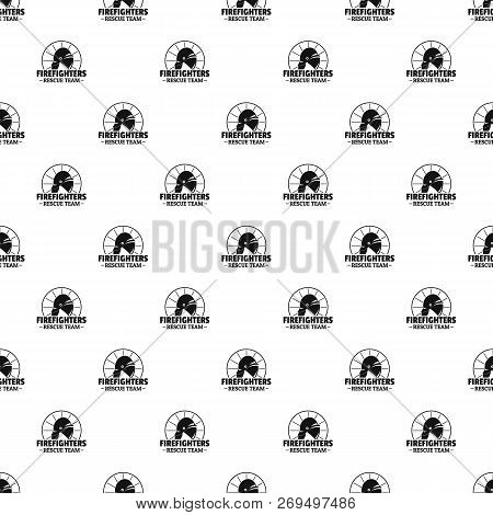 Firefighters Rescue Team Pattern Seamless Vector Repeat Geometric For Any Web Design