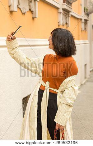 Indian Woman Taking A Selfie