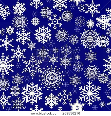 Snowflake Pattern - Snowflake Vector Pattern. Each Snowflake Is Grouped Individually For Easy Editin
