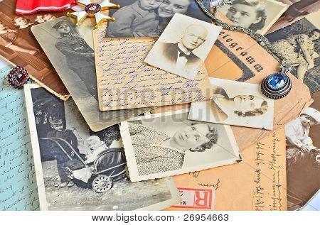 Vintage family souvenirs