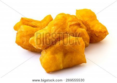 Youtiao, Chinese Food Made With Bread And Also Called Chinese Fried Churros, Chinese Cruller, Chines