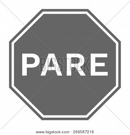 Pare Sign. Isolated On White Background. Vector Icon.