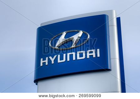 Hyundai Autombile Dealership Sign