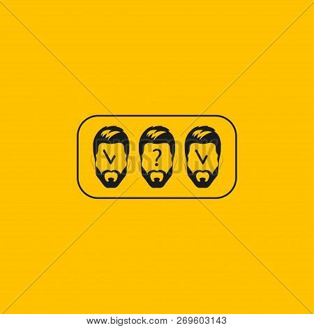 Identification, Unidentified Person, Facial Recognition Vector Illustration