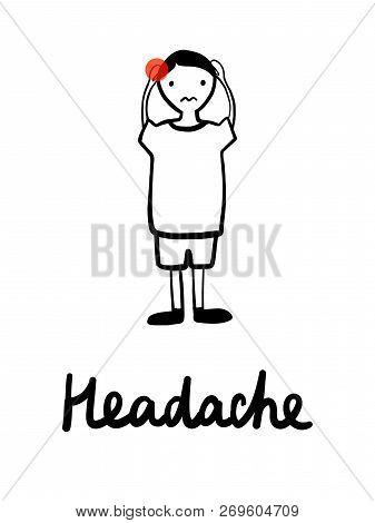 Symptoms Of Rotavirus Infection Diarrhea Nausea Stomach Pain Vomit Fever Headache Spasms Hand Drawn