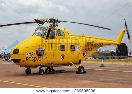 Fairford, Uk - Jul 13, 2018: Former British Royal Air Force (raf) Westland Ws-55 Whirlwind Rescue He