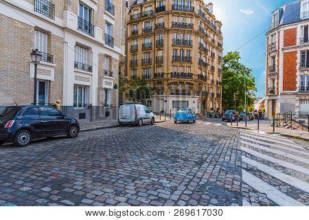 Antique Saint Denis Street In Paris, France