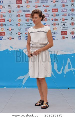 Giffoni Valle Piana, Sa, Italy - July 23, 2018 : Yasmine Trinca At Giffoni Film Festival 2018 - On J