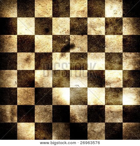 Grungy chessboard illustration