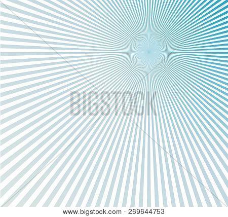 Blue Sunburst Pattern Background. Rays. Radial. Abstract. Retro. Vintage.