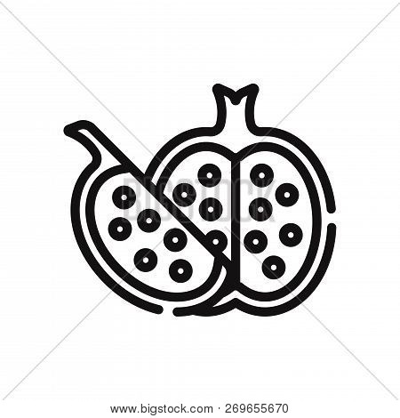 Pomegranate Icon Isolated On White Background. Pomegranate Icon In Trendy Design Style. Pomegranate