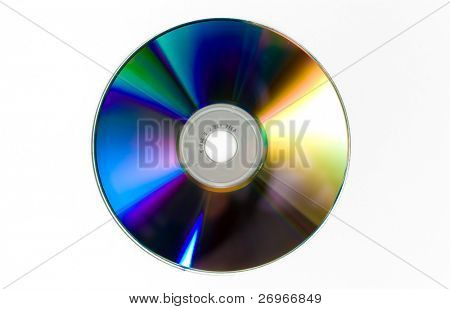 Cd isolated on white